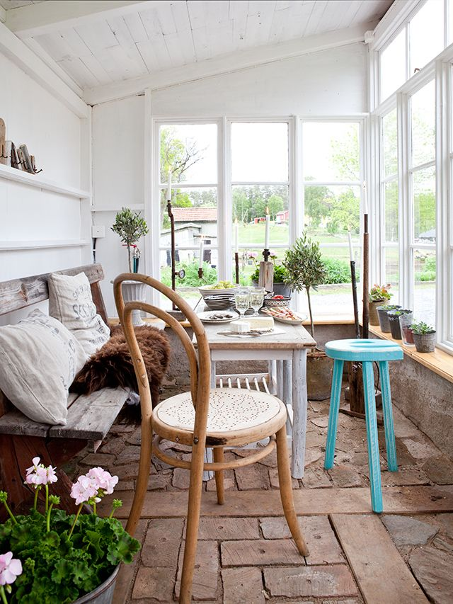 conservatory room - Made In Persbo (I like the repurposed vibe)