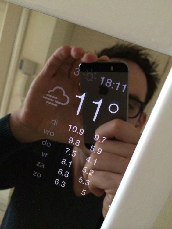 Bauanleitung für einen magischen Spiegel welcher z.B. das Tageswetter, die Wetter voraussichten, wichtige Termine etc. darstellen kann.
