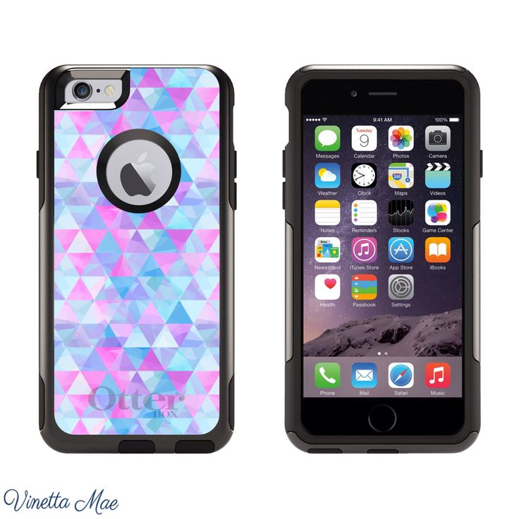 iPhone Otterbox Commuter Series Case for iPhone 5, 5s, 6, 6 Plus Pink Blue Geometric Triangles Girls Otter Box Cell Phone Case Cover 1162 by VinettaMae on Etsy https://www.etsy.com/listing/218948902/iphone-otterbox-commuter-series-case-for