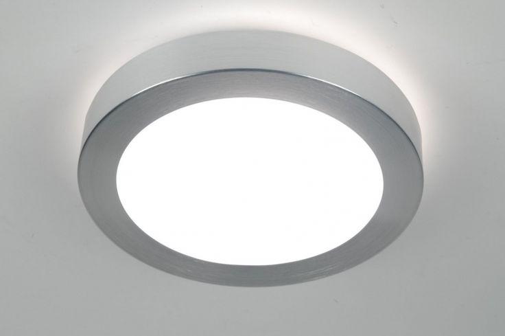 plafondlamp  70668: modern, aluminium, kunststof, rond ...
