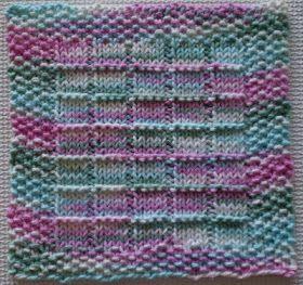 Fazendo-o com a ajuda: Windowpanes Knitted Dishcloth Pattern