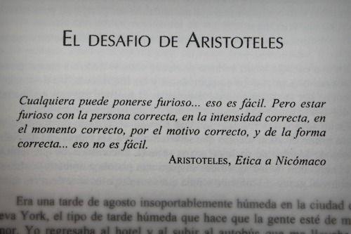 El desafió de Aristóteles.