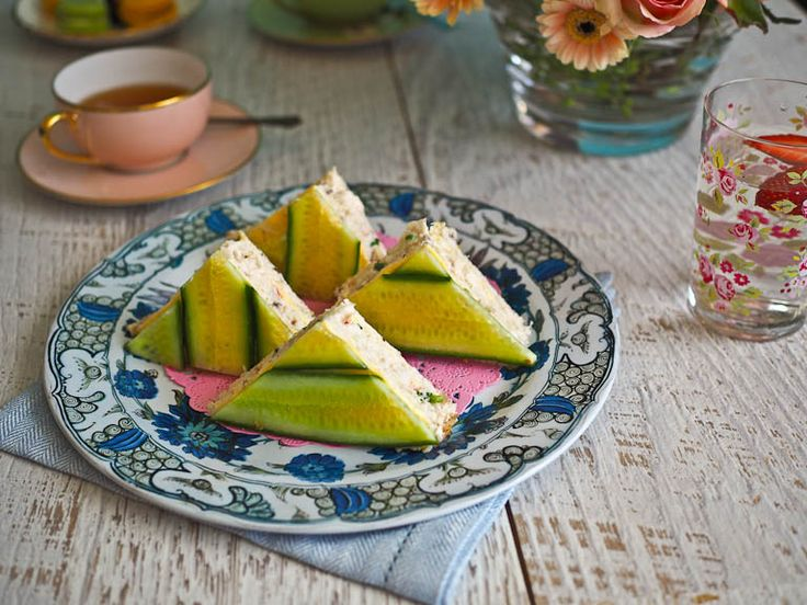 Elegant Crab & Cucumber Sandwiches For Afternoon Tea