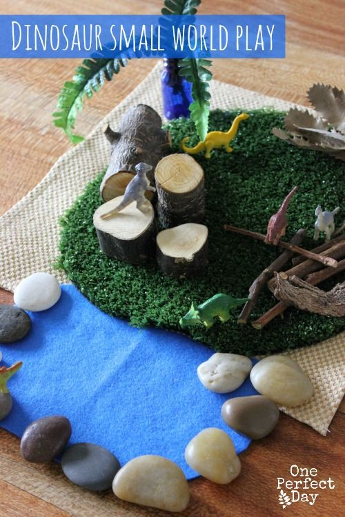 Really simple ideas for small world play. This would be so great for imaginative play and story telling / language development.