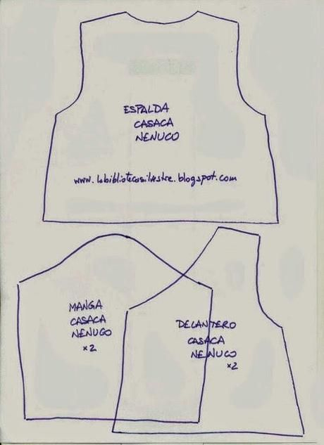 Patrones para ropa del muñeco Nenuco