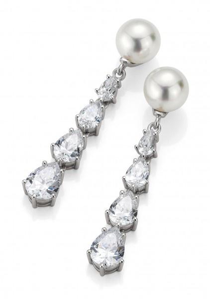 Tropfenohrringe Zirkonia  Wunderschöne Ohrringe aus der Kollektion Bridal mit Zirkonia by Verlobungsring.de #love #pearl #wedding