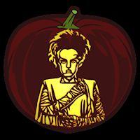 The Bride of Frankenstein - Pumpkin Stencil