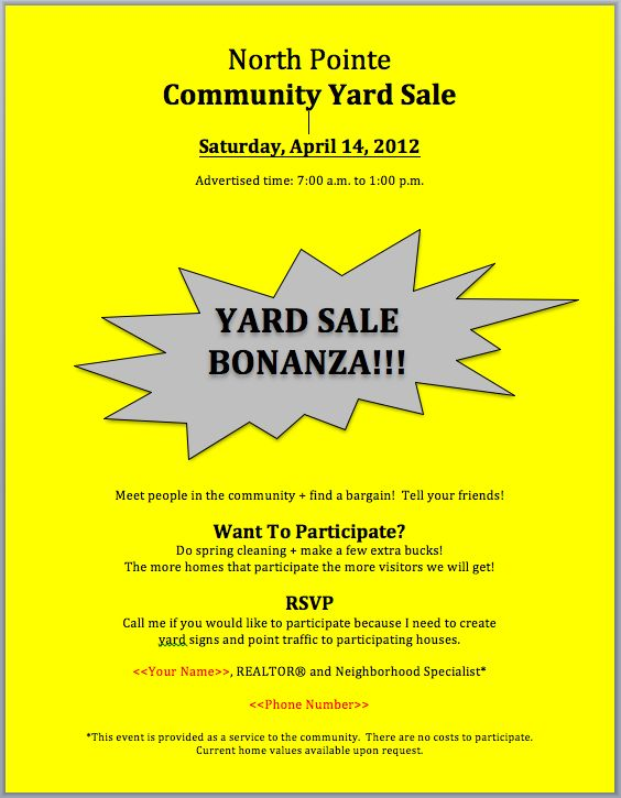 19 best Community Yard Sale images on Pinterest Community garage - sample resume real estate agent
