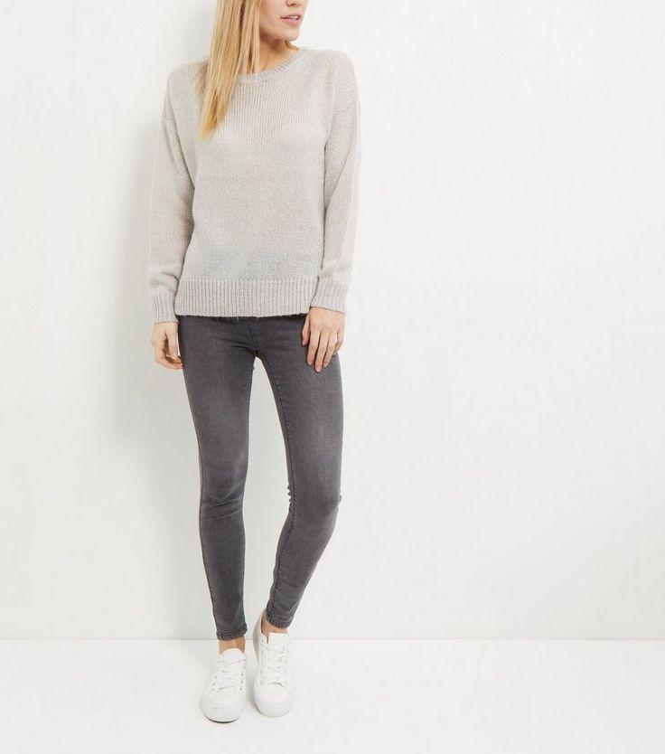 Tall Grey Boxy Jumper | New Look