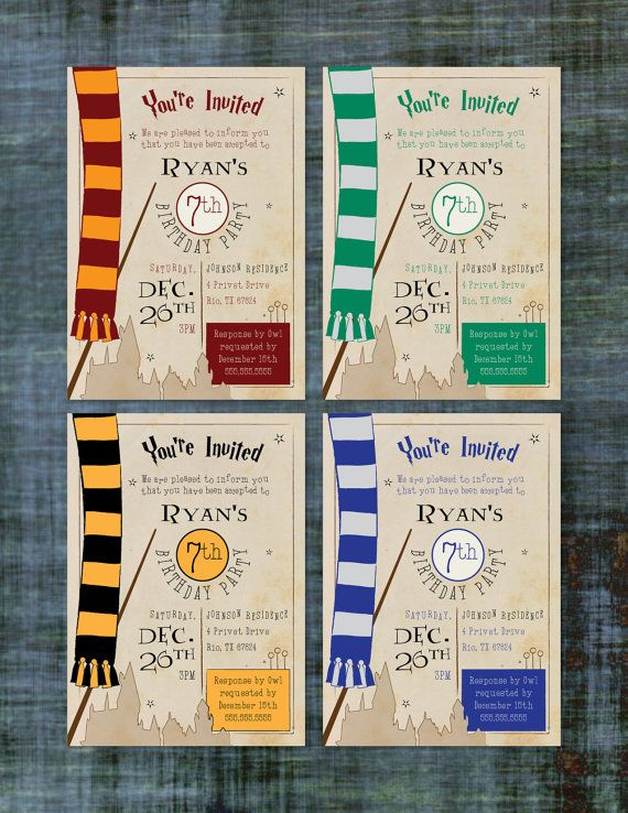 best 25 harry potter invitations ideas on pinterest harry potter parties harry potter. Black Bedroom Furniture Sets. Home Design Ideas
