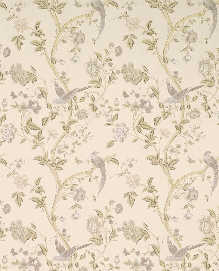 Floral Vines Off White Wallpaper Summer Palace Taupe Ivory Wallpaper