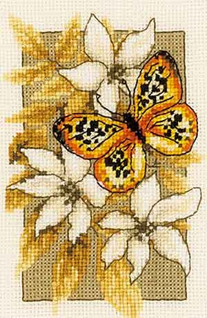 Butterfly Cross Stitch Kit By Vervaco (three)