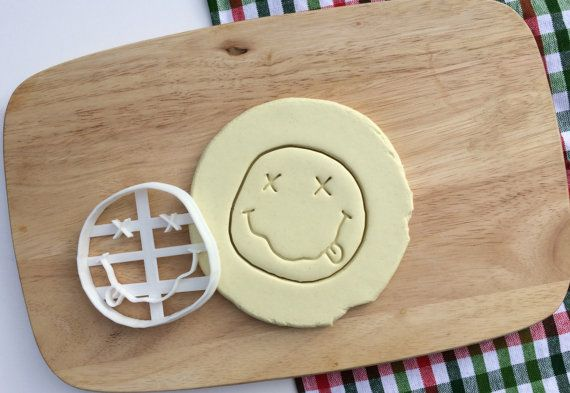 Nirvana Cookie Cutter Nirvana Logo Cookie Cutter Kurt Cobain Dave Grohl Cupcake topper Fondant Gingerbread Cutters - Made from Eco Material $11.18
