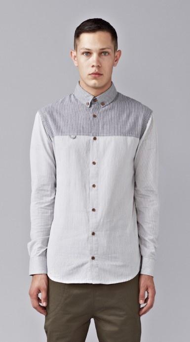 Contrast Stripe Formal Shirt