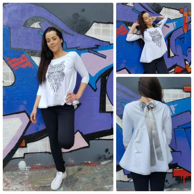 Witte blouse met uil – Amsterdam Tattooing