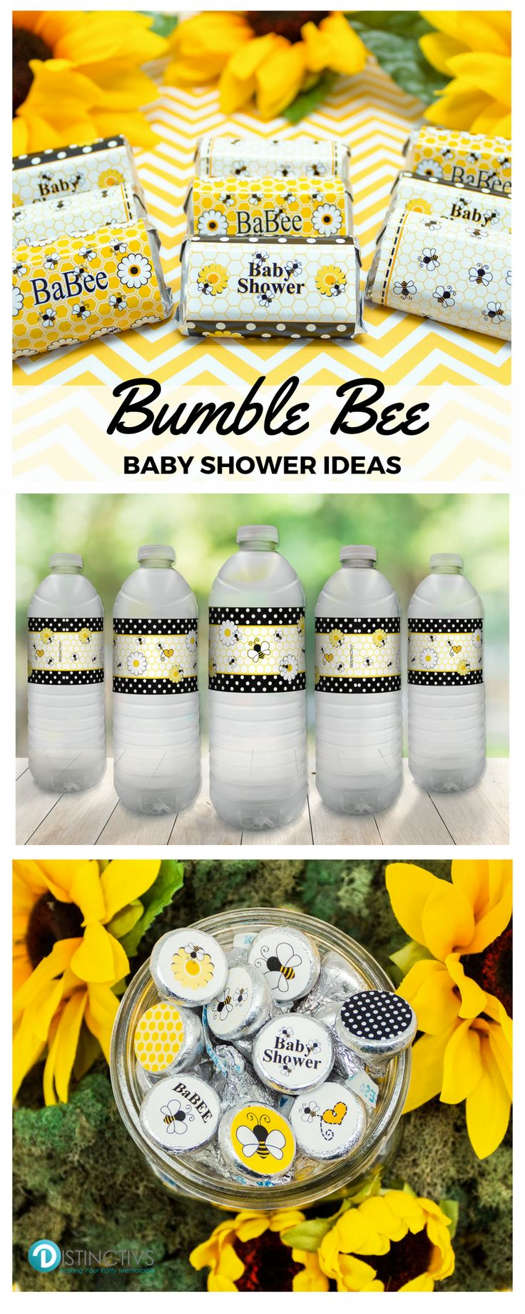 Shop Our Bumble Bee Baby Shower Supplies For Your Gender Neutral Baby Shower.  Bumble Bee Baby Shower Favor Stickers And Baby Shower Favor Candy Wrappers.