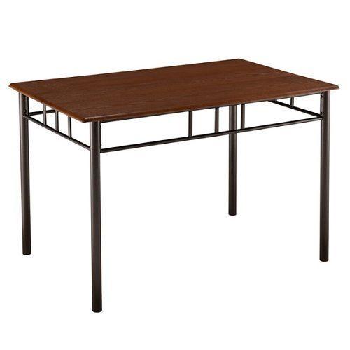 Wood Dinette Table Metal Base Dining Furniture Home Wooden