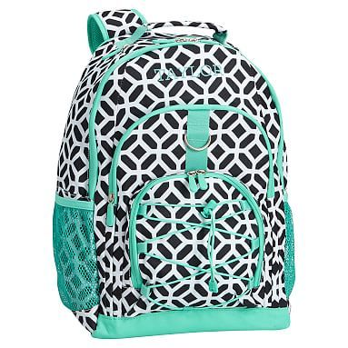 Gear-Up Black Peyton with Pool Trim Backpack #pbteen