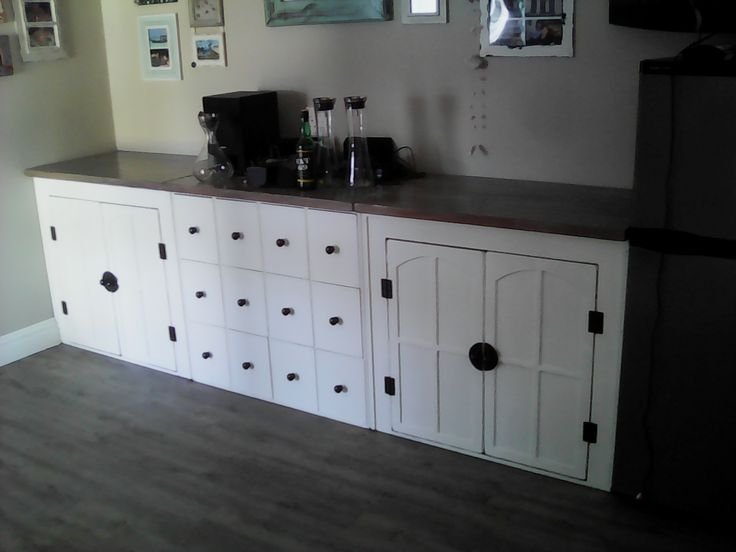 (RS 138) Server / Liquor Cabinet.  Dimensions L 2950 x W 500 x H 900 mm. Price R8 937 for this size! Can be ordered in the dimensions and colours of your choice! Contact us at Roes & Skroef 0218632371, 0835143382 / Whatsapp Riaan, 0833400954 / Whatsapp Ryk in Paarl, South Africa or e-mail humanr@telkomsa.net for a current exclusive pricelist with photos and measurements.