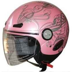 Wearing a Pink Motorcycle Helmet is the absolute best 'in your face' way to show the guys that Chicks aren't just riding on the back anymore -...