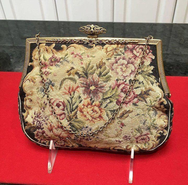 Petite point vintage handbag, fucked and bondage