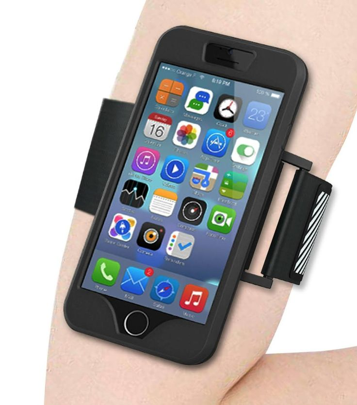 iPhone 6S ONLY Armband With Reflector, Sports Exercise Armband Running Case Touch Compatible Good For Hiking,Biking,Walking, Climbing, Exercising etc... ( BLACK ). Pro-Shock Armband is ideal to use as workout accessories for women, men, boys and girls alike. This lightweight armband keeps your smartphone secured and protected, every time!. Adjustable armband protects and stabilizes your cellphone, without slipping or constricting, so you can exercise for hours with your favorite...