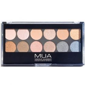 MUA 12 Shade Undressed Palette - http://www.crushcosmetics.com.au/eyes/eyeshadow/mua-12-shade-undressed-palette