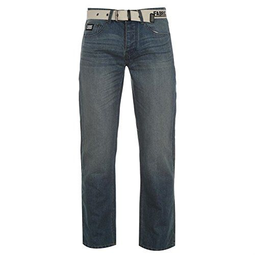 Fabric Mens Belt Jeans 5 Pocket Design Straight Leg Cut with a Button Fly and a Belt - Size 34W R - Mid Wash Fabric http://www.amazon.co.uk/dp/B01B53C2C4/ref=cm_sw_r_pi_dp_LyLWwb0T335ZK