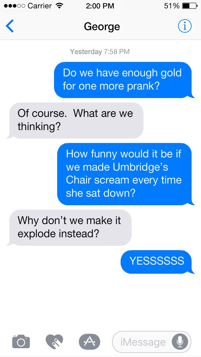 Fred And George Harry Potter Texts Harry Potter Jokes Harry Potter Funny