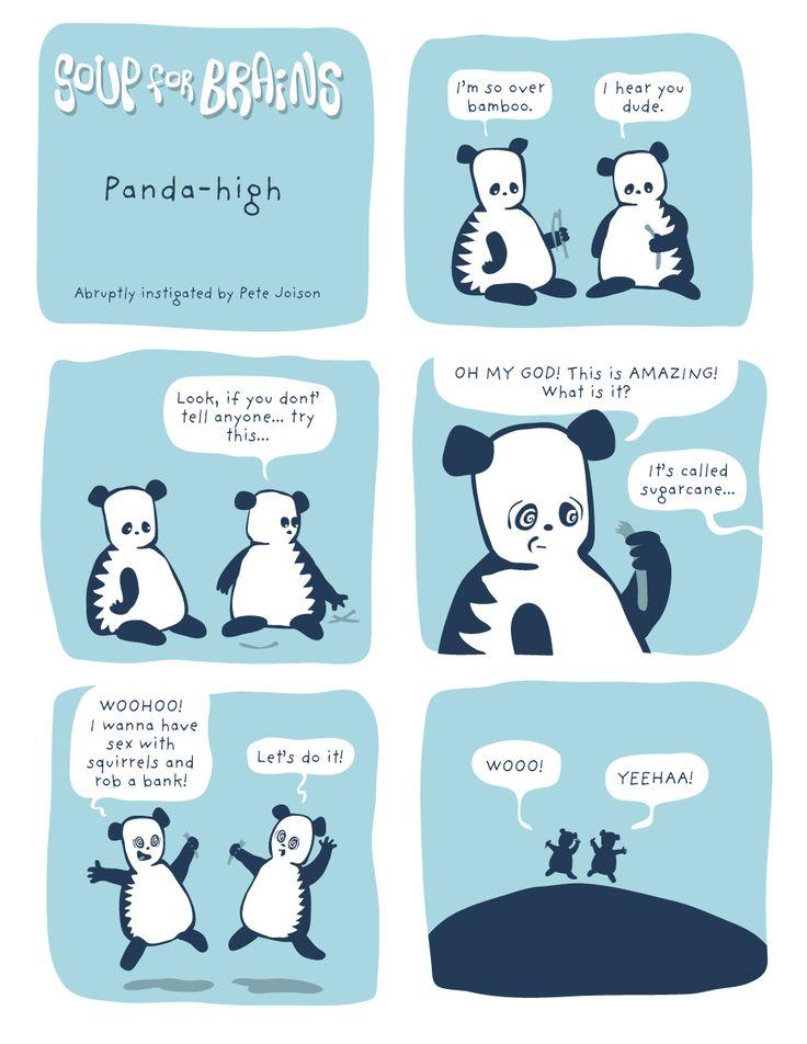 Soup for Brains - Panda-high  #weird #webcomic #humor