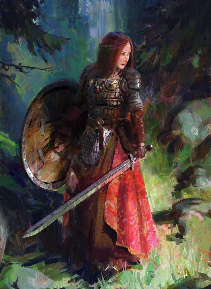 Warrior Woman, John Wallin Liberto on ArtStation at https://www.artstation.com/artwork/RNNXm