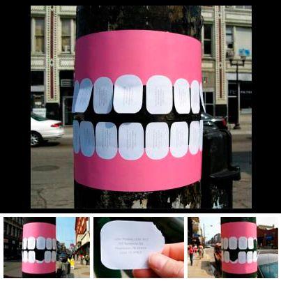 ¿Vas a abrir un consultorio dental?  Ésta es una manera innovadora de realizar publicidad.