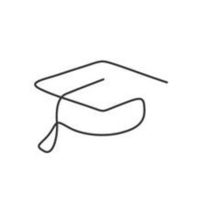 Graduation Cap One Continous Line Graduation Cap Drawing Line Doodles Continous Line Drawing