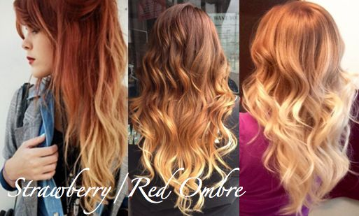Blonde Ombre Hairstyles Colors: Strawberry Blonde And Brunette Balayage