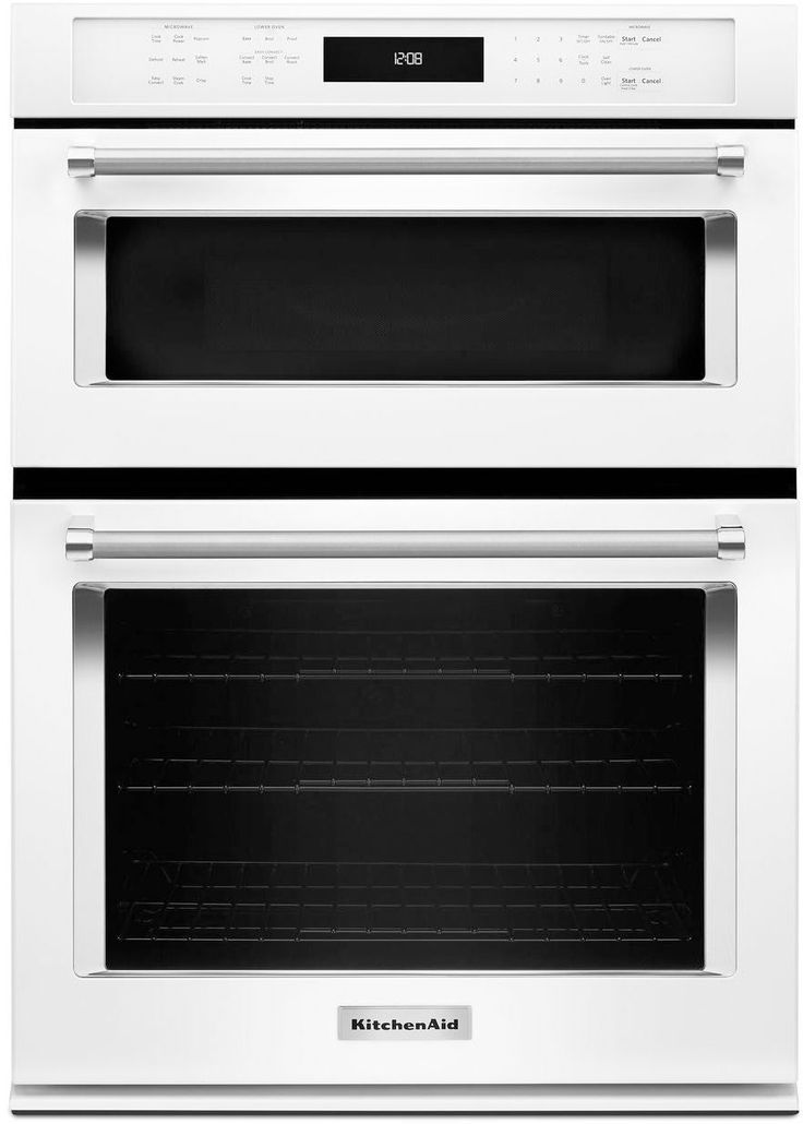 Kitchenaid koce500ewh 30inch combination wall oven with