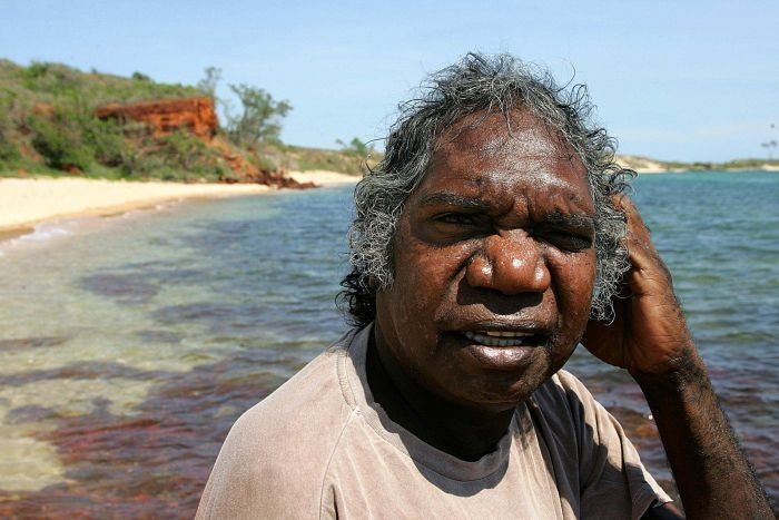 *apologies to any offence caused to aboriginal viewers*     In commemoration. Mandawuy Yunupingu, lead singer for Yothu Yindi at Shady Beach in Arnhem Land.