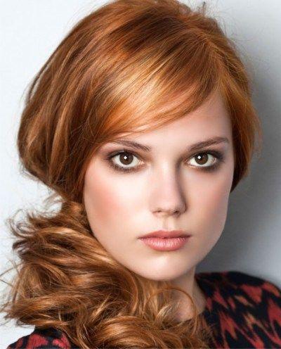 prachtig golvend rood haar