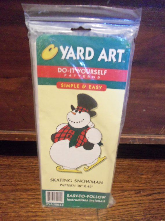 Yard Art Do It Yourself Pattern Skating Snowman 30 Inches X 5 Inches Yard Art Snowmen Patterns Pattern