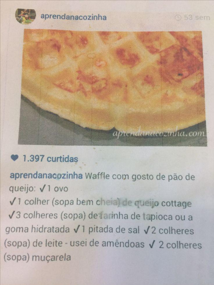 Waffle de queijo