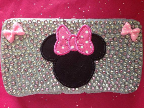 Minnie Mouse rhinestone diaper wipe case