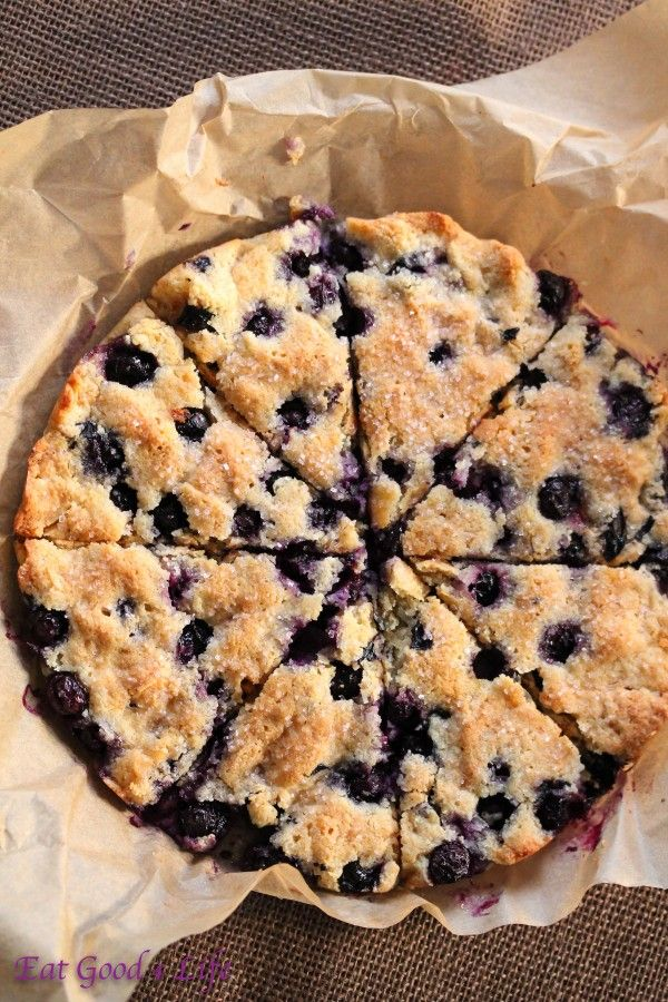 Gluten free and blueberry coconut scones