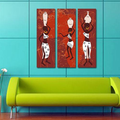 #Tablouri_Canvas din 3 piese: 3 buc x 25 x 80 cm.Suprafata totala : 81 x 80 cm.