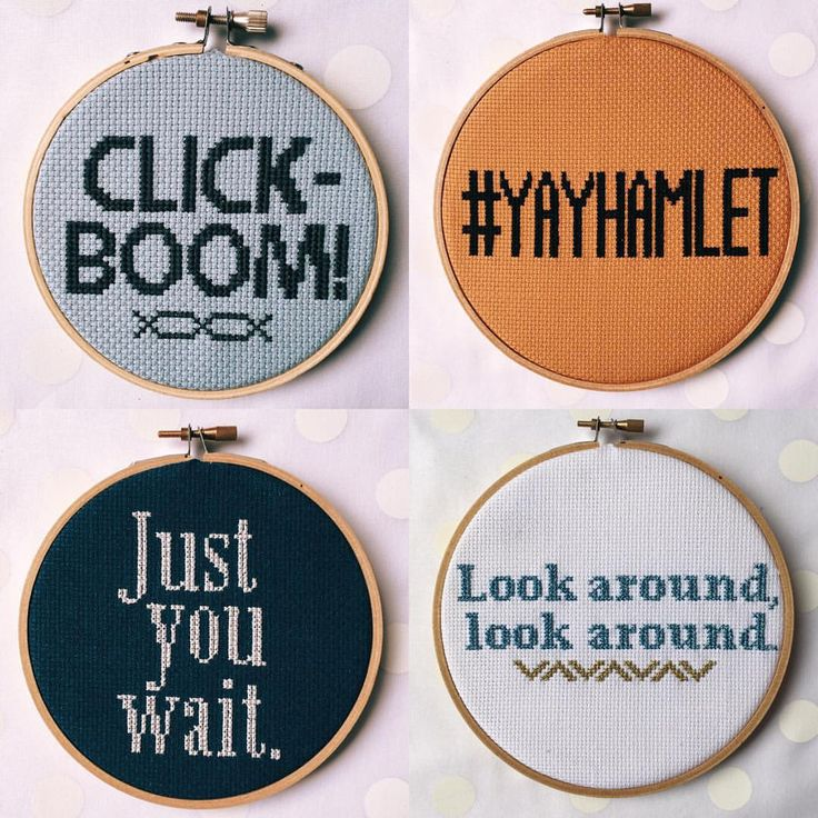 Hamilton musical cross stitch series