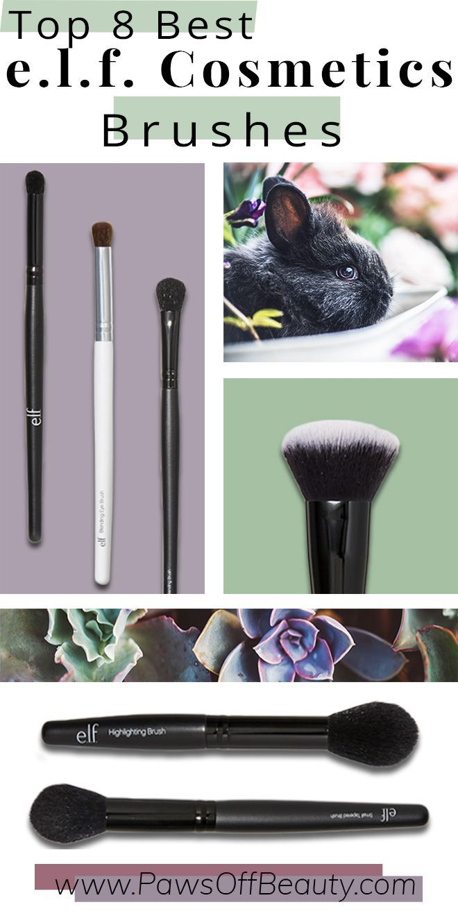 Looking for amazing quality AND affordable makeup brushes? Check out e.l.f. Cosmetics #crueltyfree and #vegan makeup brushes!
