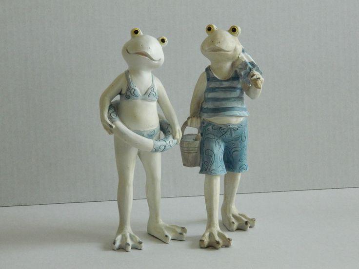Beach Holiday Frog Ornaments Novelty Gift Seaside Bathroom