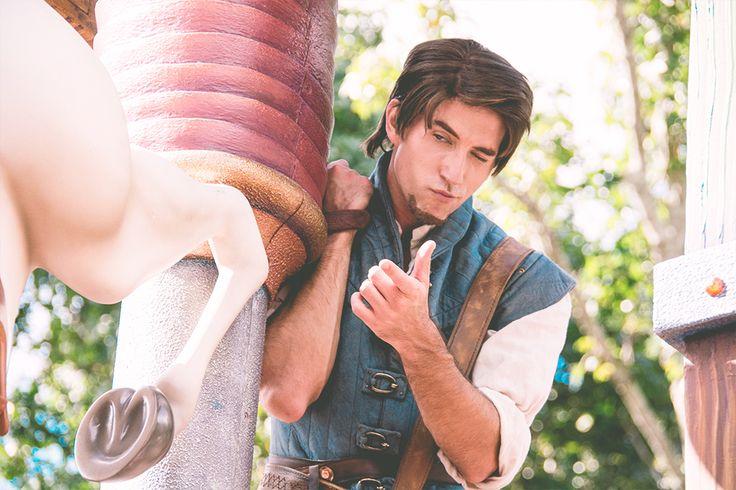 Disney face character Flynn Rider