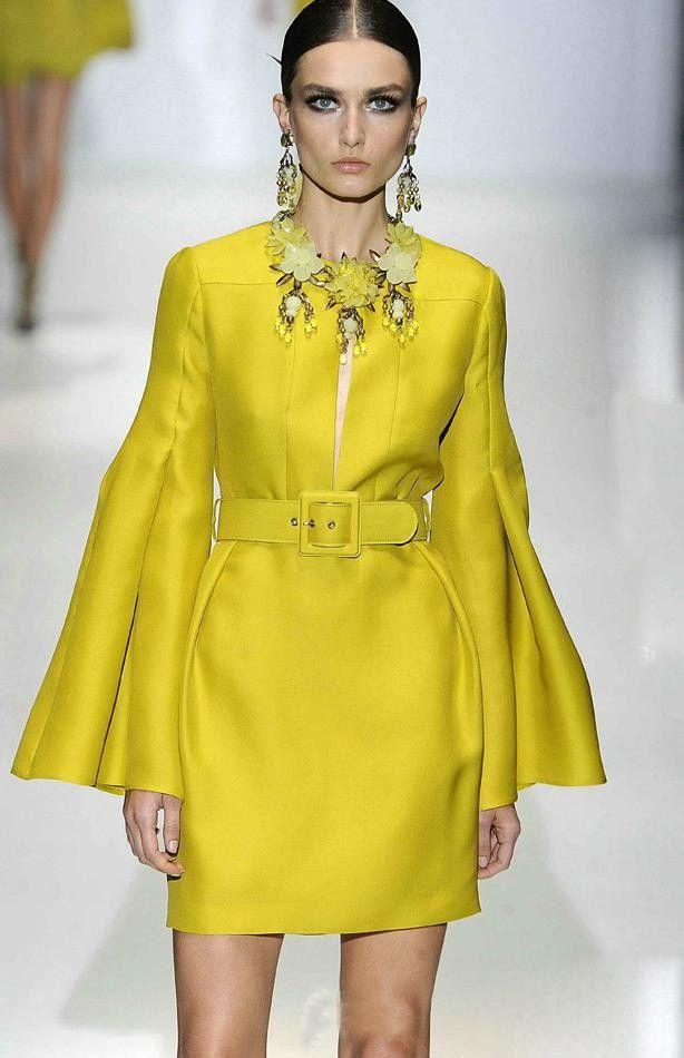 Celebrity dress pinterest yellow