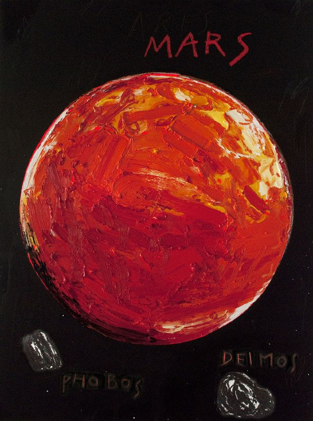 Energetic Oil Paintings of Our Solar Systems Planets