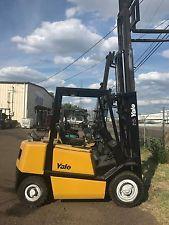 "YALE GP050RGN Forklift Lift Truck LP Side Shift 3 Stage Mast WITH 42"" forks forklift financing apply now www.bncfin.com/apply"