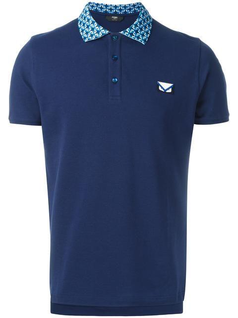 Shop Fendi Bag Bugs polo shirt.